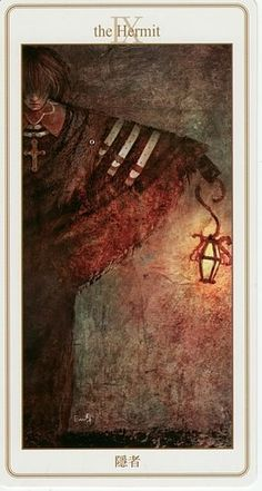 The Hermit from the Lunatic Tarot