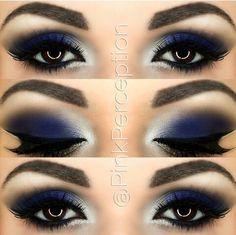blue smokey eye - Make Up 2019 Blue Makeup Looks, Blue Eye Makeup, Eye Makeup Tips, Eyeshadow Makeup, Makeup Ideas, Makeup Tutorials, Navy Blue Makeup, Makeup Brushes, Eyeshadow Ideas