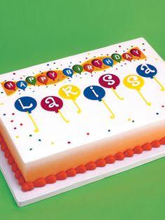 1/4 sheet girls birthday cake | birthday designer prints sheet cake size ¼ sheet skill level easy ...