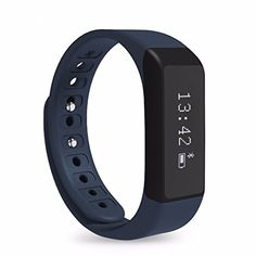 ELEGIANT Wireless Bluetooth 40 Fitness Tracker Slimdesign Smart Wristband Sports Bracelet with MultiFunctions such as Steps Counter Sleep Monitoring Calories Tracking etc * You can get more details by clicking on the image.