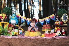 Smash the cake ou the fruit branca de neve Princess Theme, Disney Princess, 3rd Birthday, Birthday Parties, Snow White Photos, Snow White Cake, Snow White Birthday, New Theme, Baby Disney