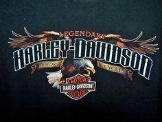 Men's Harley-Davidson Black Graphic T-Shirt XL Bold Northern Lights Deer Eagle #HarleyDavidson #GraphicTee