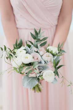 Delicate Pink Bridesmaid Bouquet
