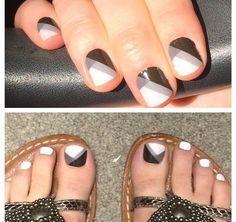 Black& White Quad mani and pedi
