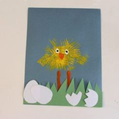 Spring Chick Kid Craft – Bright Easter Craft – A Crafty Life - Spring Crafts For Kids Kids Craft Supplies, Craft Activities For Kids, Preschool Crafts, Easter Crafts, Holiday Crafts, Kids Crafts, Preschool Ideas, Preschool Lessons, Toddler Activities