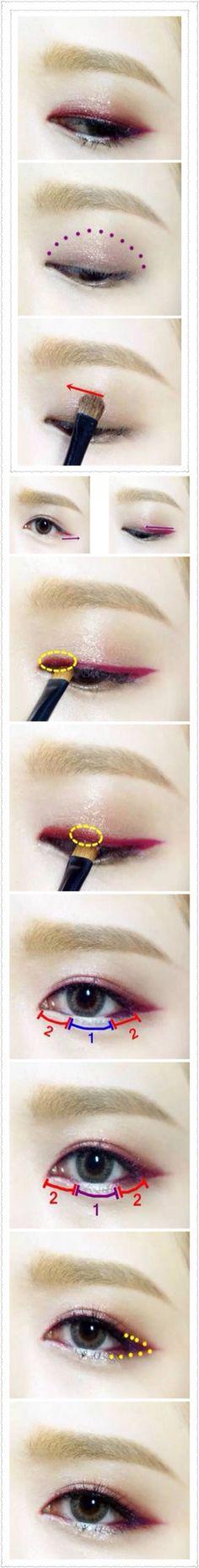 Korean smoky eye make up #make up #idea