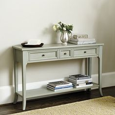 Braden 3 Drawer Console behind the couch for blankets, drinks, etc?