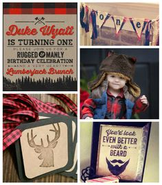 Little Lumberjack Themed Winter Birthday Party. Like the idea to use flannel, maybe not completely lumberjack themed. Winter Birthday Parties, Birthday Party Themes, Birthday Ideas, Lumberjack Birthday Party, Baby Boy Birthday, 2nd Birthday, Winter Ideas, Party Ideas, Lumber Jack
