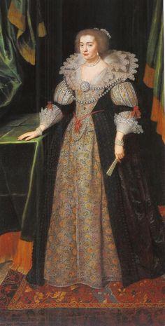 Amalia van Solms, the spouse of stadholder Frederik Hendrik van Oranje-Nassau (Frederick Henry of Orange Nassau).