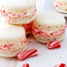 holiday, candies, cooki, cane macaron, macaroon, candi cane, candy canes, christma, dessert