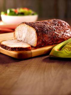 Roast Adobo Pork Loin recipe  via Food Network.  Delicious and SUPER easy :)
