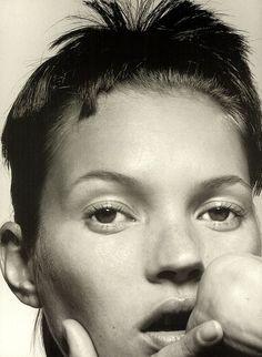 Kate Moss by David Sims [ Good Head, Hair by Guido. The CV. ]