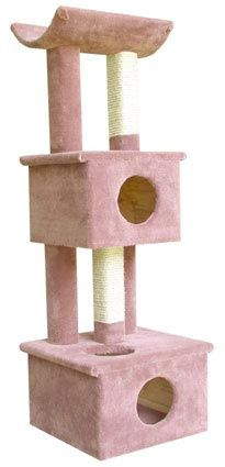 Two Story Cat Condo Tree with Cradle on Top