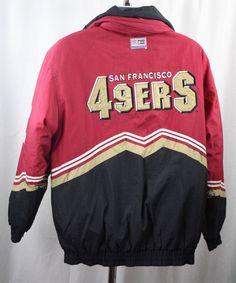 San Francisco 49ers NFL Football Pro Line Vintage Jacket Size Large #LogoAthletic #SanFrancisco49ers