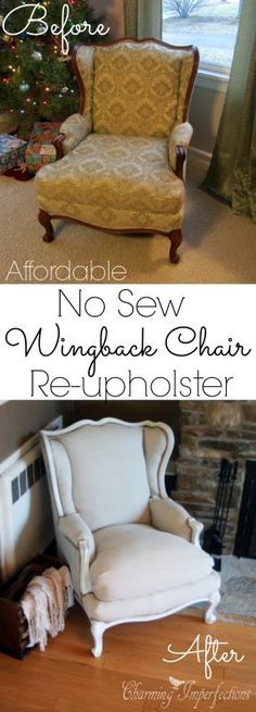 This in-depth tutorial on how to re-upholster a wingback chair because it has tons of pictures. There are also some great money saving tips as well. If you are considering re-upholstering a chair, you have to check this out!