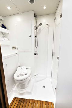 Hallberg-Rassy 64 portside WC and shower