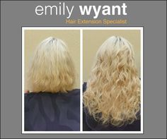 Hair extension before and afters from Emily Wyant customers. What a transformation! Transform your look with extensions!