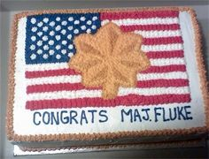 Military promotion cake idea