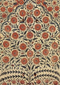 Famous Textile Prints - Pinious [dot] com Indian Block Print, Indian Prints, Indian Textiles, Vintage Textiles, Indian Art, Vintage Patterns, Textile Prints, Textile Patterns, Textile Design
