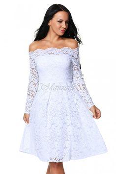 Koktejlové šaty SIMONE bílé