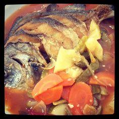 Ikan berenang kuah asam manis #medan #kuliner