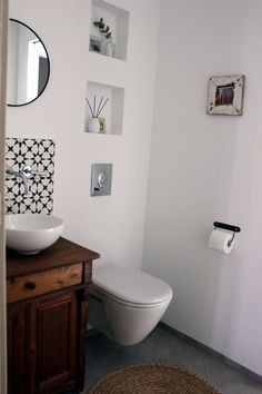 Badezimmereinblick | SoLebIch.de Foto: inspirier.mich #solebich #Badezimmer #ideen #fliesen #dekoration #kleines #aufbewahrung #waschtisch #Dusche #Badewanne #modernes #renovieren #einrichten #farbe #stauraum #bathroom #klo #interior #interiorideas