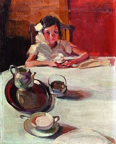 The Milk, 1917 painting by Nikolaos Lytras Art And Illustration, Illustrations, Anime Comics, Art Cube, Greek Paintings, Figurative Kunst, Greek Art, Tea Art, Art Database