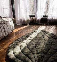 Linen leaf mat linen blanket play mat linen leaf linen duvet