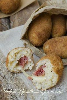 Prosciutto, Scamorza and Rice Croquettes