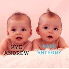 Twin boy names- Kye Andrew, Kash Anthony Twin Boy Names, Twin Boys, Baby Names, Cord Blood Banking, Social Class, Identical Twins, Falling In Love With Him, Cute Babies, Baby Boy