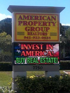 Full Color LED Sign, American Property Group Realtors