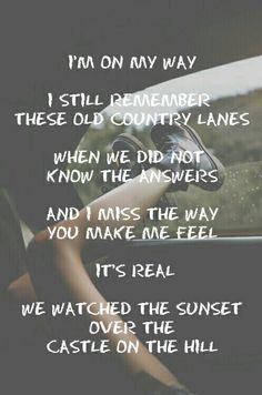 Castle On The Hill - Ed Sheeran song lyrics
