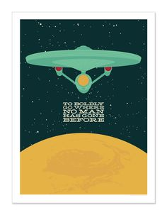 Star Trek inspired art print 18x24. $20.00, via Etsy.
