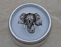 """Безразмерное кольцо """"Индийский слон"""" """"под серебро"""""""