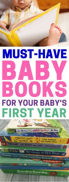 The best baby books for your baby's first year (ages 0-12 months). Books that every baby should have in their library. Starter library essentials. #babybooks #readingtokids #readtokids