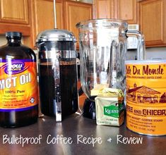 Bulletproof Coffee Recipe and Review - 1 cup will sustain you for 10 - 12 hours. #coffee