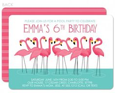 I think I'll be using these for N's birthday - flamingos are perfect for a pool party!  #swankypress
