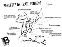Benefits of Trail Running. Looking forward to hitting the trails in Ogemaw with some fun peeps tomorrow! :)