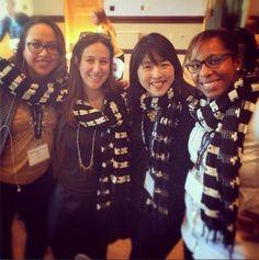 Kelly Wickham, Liz Gumbinner, Christine Koh, Stacey Ferguson sporting the fashionABLE Genet scarf #livefashionABLE