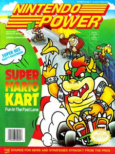 Super Mario Kart (SNES) - 10 page retro guide from Nintendo Power There was a ten page guide to the original SNES version of Super Mario Kart in Nintendo Power Magazine's October 1992 edition. A time when other games companies had chosen all the F1...