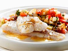 Ryba na zelenině - | Prostřeno.cz Seafood, Food And Drink, Eggs, Fish, Breakfast, Health, Fitness, Diet, Fine Dining