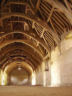 Just beautiful.  Shows how function is beauty.  cavernous halls, Tithe Barn, Bradford-on-Avon
