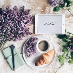 Nadire Atas on Cafe , Tea, Desserts and Lovely Flowers Dominika Brudny Coffee And Books, I Love Coffee, Coffee Break, My Coffee, Morning Coffee, Good Morning, Sunday Morning, Flat Lay Photography, Coffee Photography