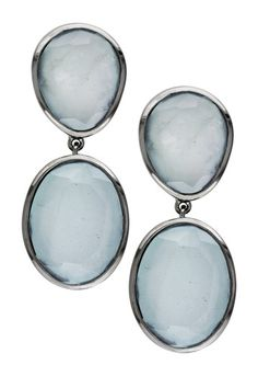 Sea Foam Aquamarine Drop Earrings
