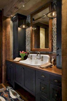 33 Inspiring Farmhouse Bathroom Remodel Ideas