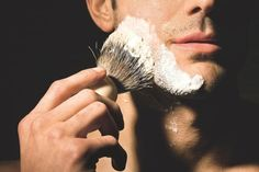 To men (from a man): Shaving your face with a badger brush will change the way you approach shaving. If you're needing a gift idea for a dude in your life, I highly recommend one of these bad boys. Massage For Men, Shaved Hair Cuts, Modern Hepburn, Art Of Manliness, Close Shave, Dapper Dan, Wet Shaving, Shaving Cream, Moda Masculina