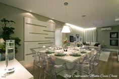 ILUMINAÇÃO NO CANTO E SOBRE A PORTA PAINEL 65 Salas de Jantar e Estar Integradas! Veja Dicas e Qual Iluminação Usar!