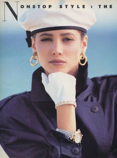 'Non-Stop Style: The Perfect Answers' from………….Vogue March 1986 feat Christy Turlington