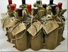 BURLAP WINE BAGS http://theautocrathaley.blogspot.com/