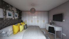 Bedroom design by Mialmi – toptrendpin. Bedroom Inspo, Bedroom Decor, Design Bedroom, Cozy Room, Modern Contemporary, Yellow Interior, Interior Design, Bedrooms, House